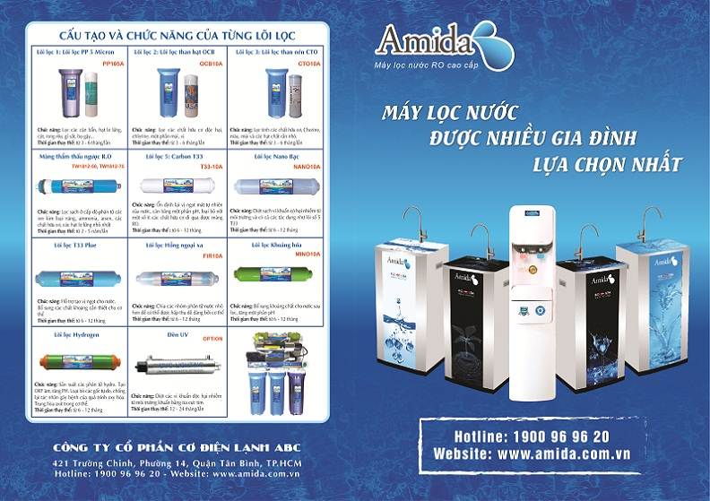 Catalogue máy lọc nước RO AMIDA